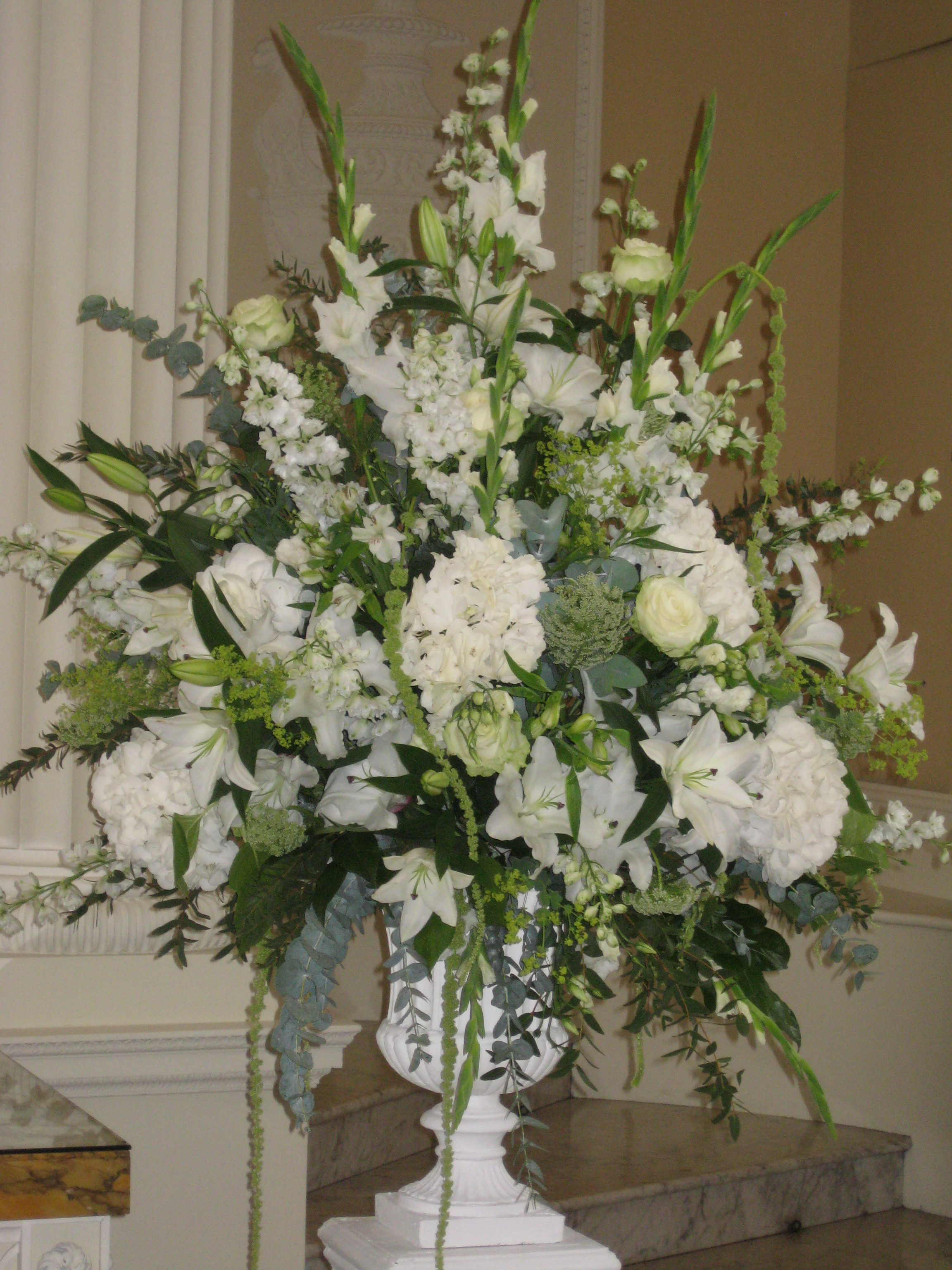 Wedding Flowers For Venue : Wedding reception venue flowers ? by louise