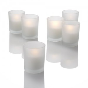 frosted votive tealight holders